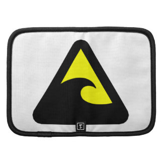 Tsunami Hazard Sign Folio Planners