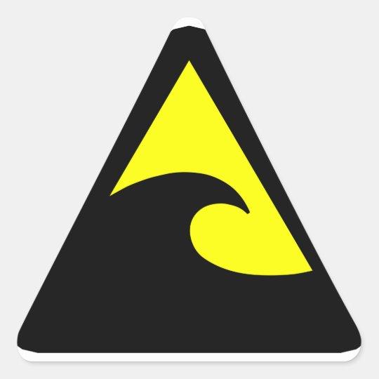 tsunami hazard sign triangle sticker zazzle
