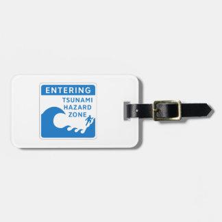 Tsunami Hazard Zone, British Columbia, Canada Tag For Luggage