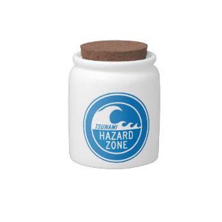 TSUNAMI HAZARD ZONE CANDY JARS