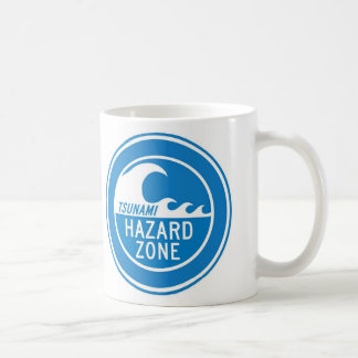 TSUNAMI HAZARD ZONE CLASSIC WHITE COFFEE MUG