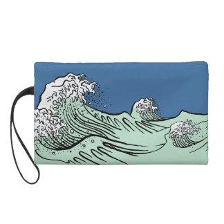 Tsunami Japanese Tsunami Wristlet Clutch