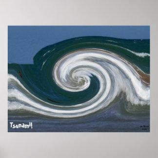 ¡Tsunami moderno del arte abstracto del mosaico!