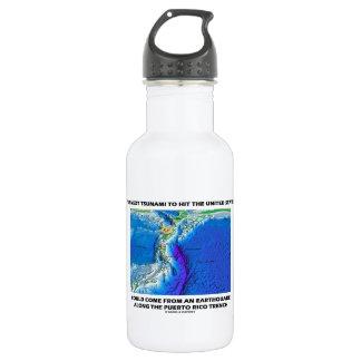 Tsunami Puerto Rico Trench (Plate Tectonics Earth) 18oz Water Bottle