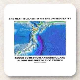 Tsunami Puerto Rico Trench (Plate Tectonics Earth) Coaster