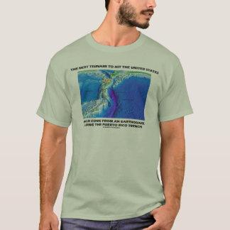 Tsunami Puerto Rico Trench (Plate Tectonics Earth) T-Shirt
