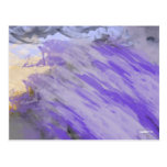 Tsunami púrpura tarjetas postales