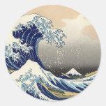Tsunami Round Sticker