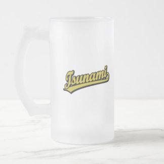 Tsunami script logo in Gold Coffee Mug