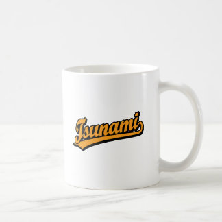 Tsunami script logo in Orange Coffee Mug