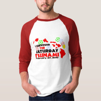 Tsunami Survivor (2 sided) T-Shirt