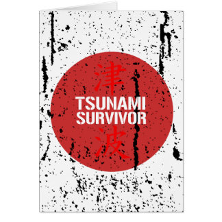 TSUNAMI SURVIVOR GREETING CARD