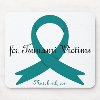Tsunami Victims awareness ribbon Mouse Pad