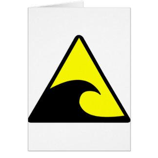 Tsunami Warning Card