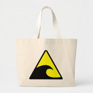 Tsunami Warning Large Tote Bag