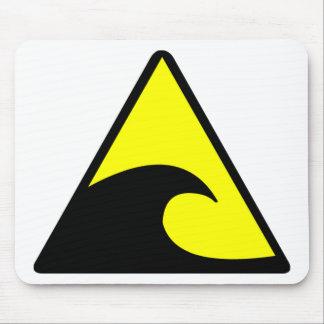 Tsunami Warning Mouse Pad