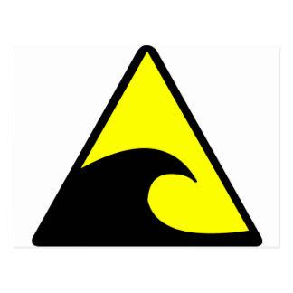 Tsunami Warning Postcard