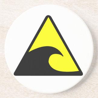 Tsunami Warning Sandstone Coaster