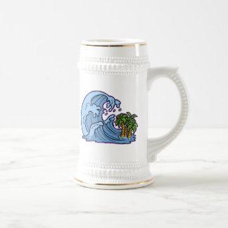 Tsunami Wave 18 Oz Beer Stein