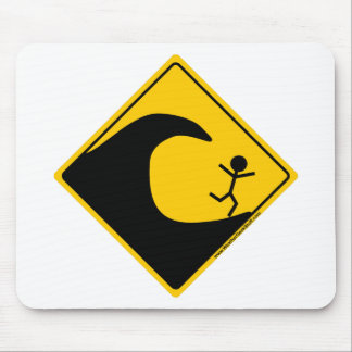 Tsunami Weather Warning Merchandise and Clothing Mouse Pad