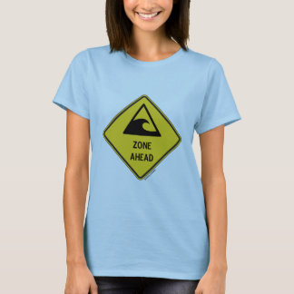 Tsunami Zone Ahead (Yellow Diamond Warning Sign) T-Shirt