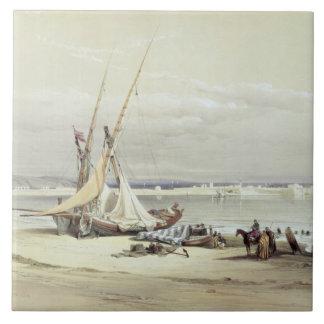 Tsur, neumático antiguo, el 27 de abril de 1839, p azulejo cuadrado grande