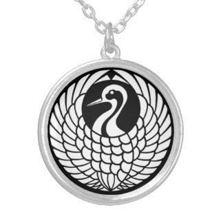 Tsuru Crane necklace