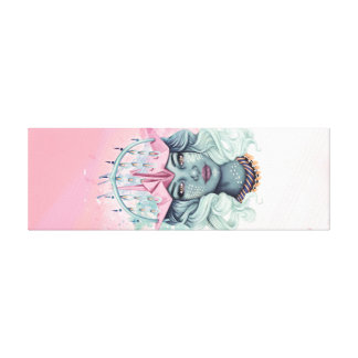 Tsuru Origami Girl Canvas Print