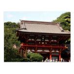 tsurugaoka shrine top postcard