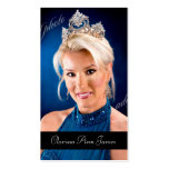 TT-Beauty Pageant Photo Card Business Cards
