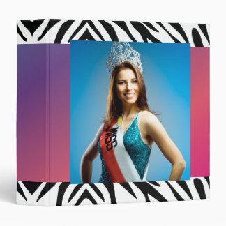 TT-Beauty Pageant Photo Zebra Gown Fade Binders