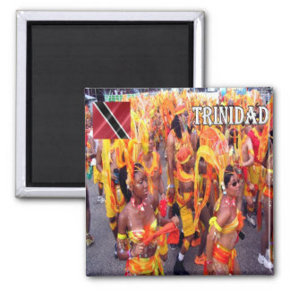 TT - Carnaval del naranja de Trinidad and Tobago Imán Cuadrado