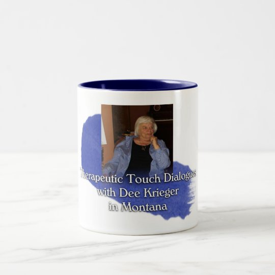 TT Dialogues with Dee - Blue Two-Tone Coffee Mug