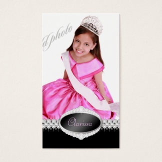 TT-Diamond Bliss Beauty Pageant Photo Card