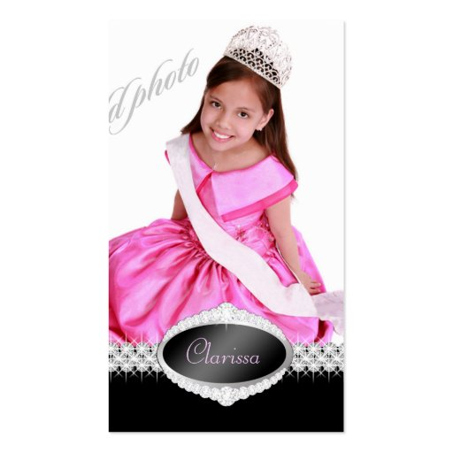 TT-Diamond Bliss Beauty Pageant Photo Card Business Cards