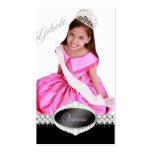 TT-Diamond Bliss Beauty Pageant Photo Card Business Cards