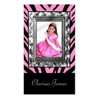 TT-Jeweled Frame Beauty Pageant Card
