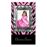 TT-Jeweled Frame Beauty Pageant Card Business Card Template