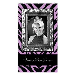 TT-Jeweled Frame Beauty Pageant Card purple