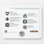 TT Meanings - ADINKRA Symbols Mouse Pad