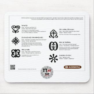TT Meanings - ADINKRA Symbols Mouse Mats