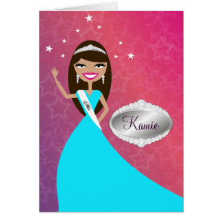 TT-Miss Beauty Princess Brunette | Congratz Card