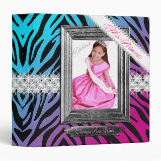 TT-Miss Princess Beauty Pageant Binder Zebra