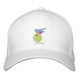 TTA_smiling ball + name on side Embroidered Baseball Hat