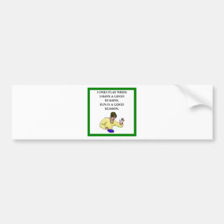 ttable tennis bumper sticker