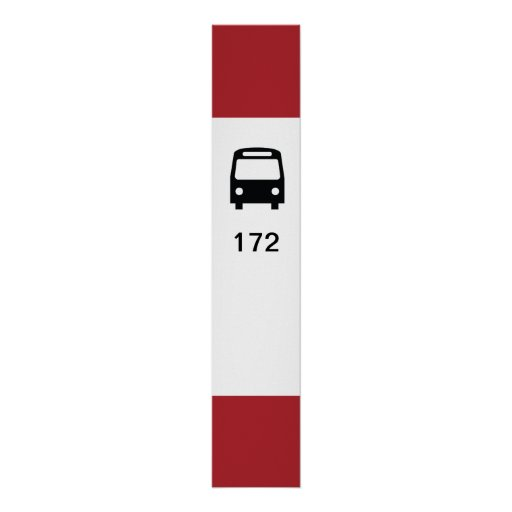 TTC Bus Stop Poster w/ customizable route