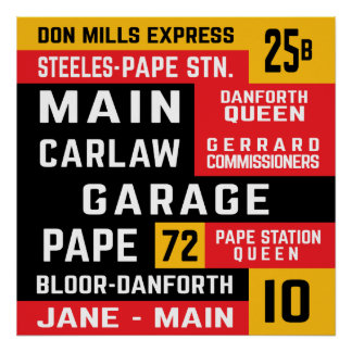 TTC East Side Bus Routes Poster