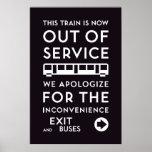 TTC - Poster fuera de servicio de la disculpa