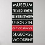 TTC Subway Destination Sign v1 Print