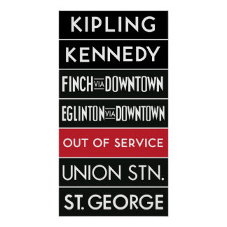 TTC Subway Destination Sign v2